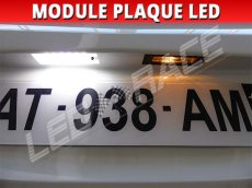 Led plaque d'immatriculation